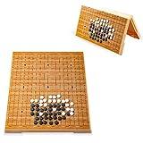 Zavddy Go Bang Go Board Set for Kinder und Erwachsene Praktische magnetische Einzel-Convex Stones Travel Brettspiel Strategiespielbrett (Farbe, Size : One Size) -