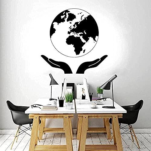 Vinilo mural impermeable autoadhesivo pegatinas de pared suelo natural arte mapa impresión vecino mapa del mundo estudio diseño creativo 43x42cm