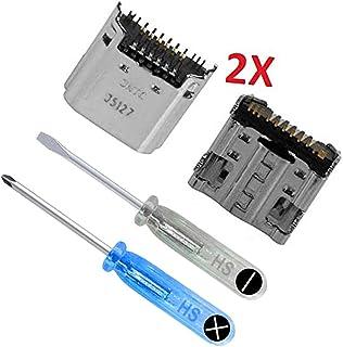 MMOBIEL 2X Dock Connector Power Socket Jack Compatible con Samsung Galaxy Tab 3 7.0 Pulgada SM-T210 T211 Incl útiles