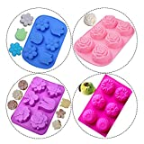 RETON 6 Hohlraum-Blumen-Form-Silikon-Form-DIY Backen-Werkzeuge für Mini Soap, Cupcake, Plätzchen,...