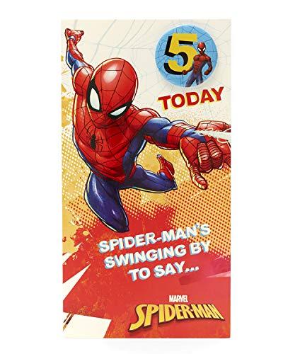 Geburtstagskarte zum 5. Geburtstag Spiderman Alter 5