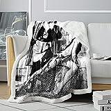 Manta de impresión 3D AudreyHepburn Manta de Cama de Vacaciones Romana Actriz británica Sherpa Throwing Comfortable Friends Fleece Blanket 120x150cm