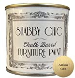 Shabby Chic Chalk Furniture Paint - Antique Gold 250ml - Chalked, Use on Wood, Stone, Brick, Metal, Plaster or Plastic,...