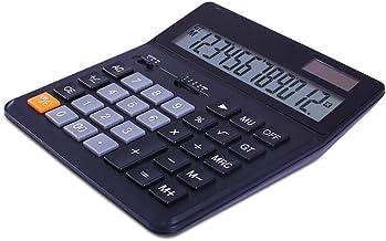 $43 » ZZL Multifunction Dual Power Calculator 12-Digit Office Calculator Finance Dedicated Large Button Desktop Calculator Porta...