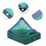 WWWANG Red de Sombra Verde al Aire Libre con Ojal, Patio de balcón paño de Sombra de Bloqueo Solar, Malla de protección UV para Planta de Flores Protección Solar, Aislamiento térmico.