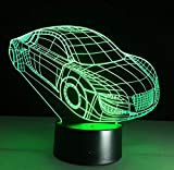 3D Deco Light Motor Car Automobile Forme Usb Charge Touch Switch Lamp 7 Colorful Kids Night Light