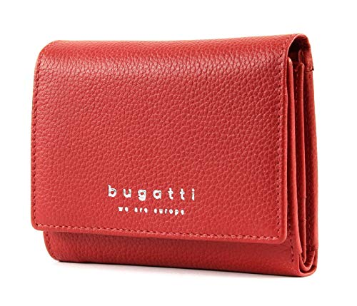 Bugatti Linda Portafoglio Donna Pelle con Portamonete, Piccolo - Rosso