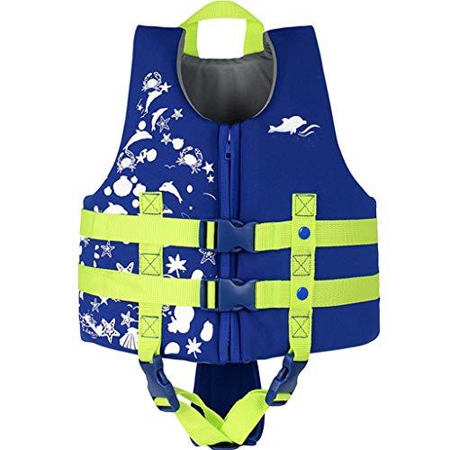 IvyH Schwimmweste, ideale Schwimmweste für Kinder 3-10 jährige Jungen und Mädchen Schwimmhilfen Auftrieb Bademode Einstellbar Schwimmen Lernen Schwimmbad Tauchen Strand Surfen Sicherheit/Blau L