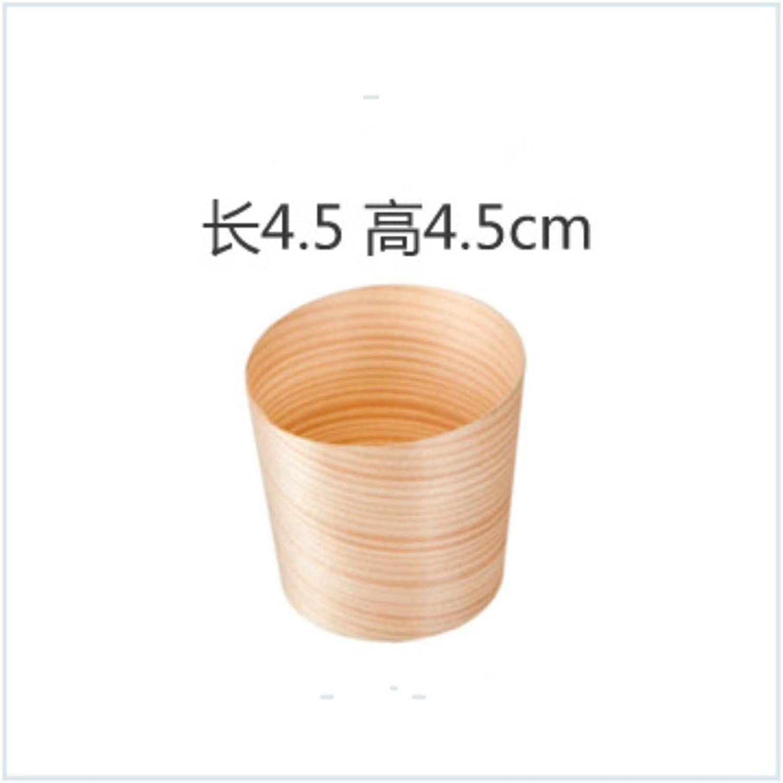 XC Boîte à Lunch jetable 50 Bateau en Bois Bois Papier Bateau Cuisson Boîte Vaisselle Vaisselle Sushi Boîte Snack Plaque placage Tasse 4.5x4.5cm