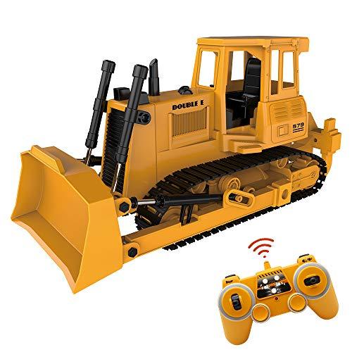 Mostop RC Bulldozer 24G RC Loader Tractor Crawler Bulldozer Remote Control Construction Vehicle for Kids