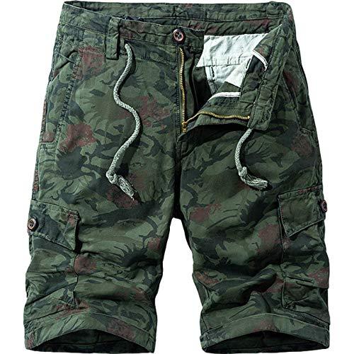 Herren Multi Pocket Camo Combat Arbeitshose Outdoor Loose Plus Size Hose mit geradem Bein Lässige Trendige Streetwear-Hose 30