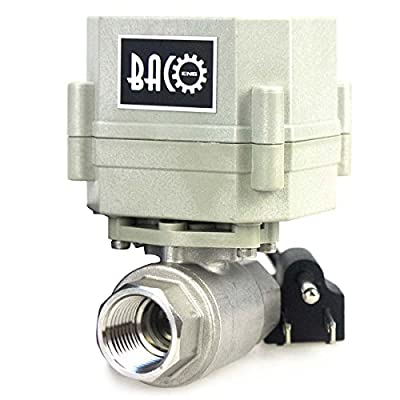 """BACOENG 1/2"""" DN15 110VAC Stainless Steel Motorized Ball Valve,NC Electrical Ball Valve by BACO ENGINEERING"""
