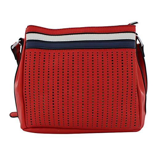 MISEMIYA - Borsa a Tracolla Borse Tracolla Donna borsa a Tracolla donna SR-YT841(24 * 28 * 9cm) - Rosso