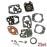 Mingdun Carburetor Rebuild KIT for Troy BILT 791-182732 WALBRO WYL K20-WYL WYL-242-1 2 Set