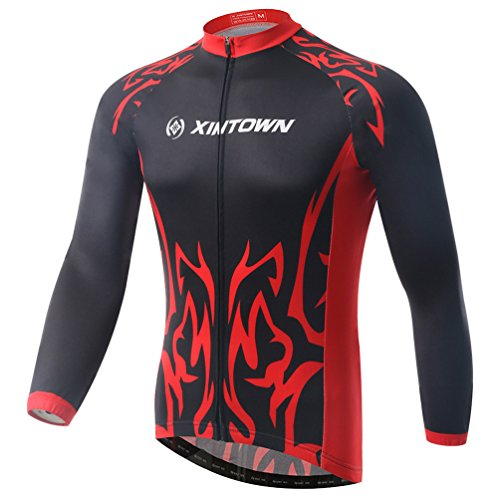 Baymate Unisexe Manches Longues Maillot de Cyclisme Respirant Cycling Veste M
