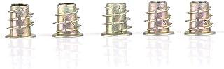 BYARSS Zeskantmoer-schroefmoer, 3 typen M4 M5 zinklegering Binnen zeskantmoerinzetmoeren voor houten meubels(M5 * 10)