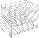 W Unlimited Iron Wire Stackable Can Rack Organizer Chrome