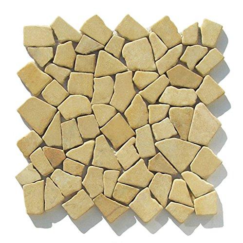 M-1-012 - 1 m² = 11 Fliesen - Naturstein Marmor Bruchstein Mosaikfliesen Fliesen Lager Verkauf Stein Mosaik Herne NRW