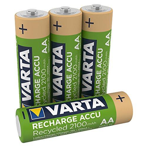 VARTA Recharge Accu Recycled, Pilas de NiMh AA Micro recarga