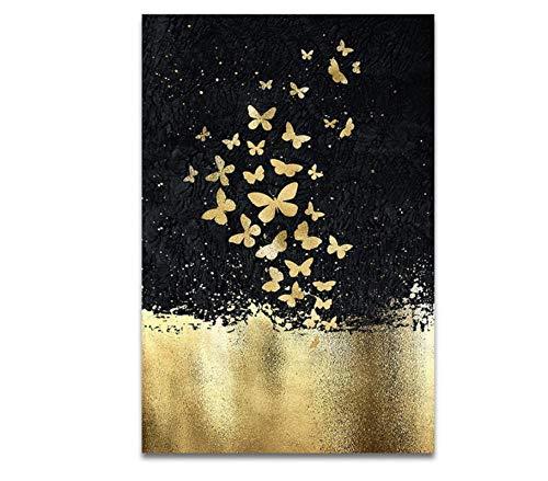 Cartel De La Mariposa De La Serpiente Dorada, Regalo Para Niños, Cartel Vintage, Arte De Pared, Cartel Bonito, Cartel De Chapa De Metal, Cartel De Decoración De Pared Sin marco 30*40CM(12*16in