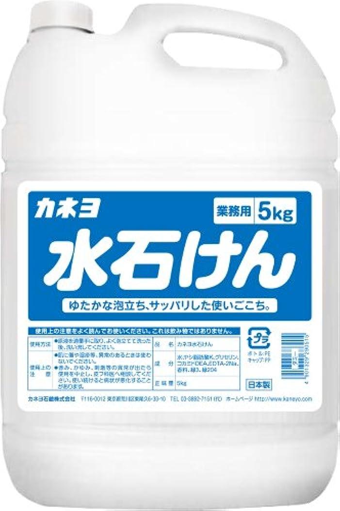瀬戸際失敗黙認する【大容量】 カネヨ石鹸 ハンドソープ 水石けん 液体 業務用 5kg
