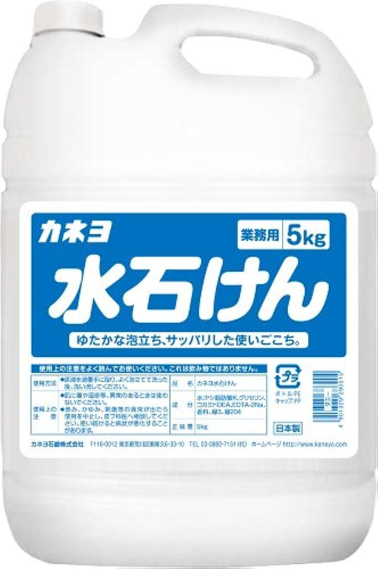 旅行送信する北西【大容量】 カネヨ石鹸 ハンドソープ 水石けん 液体 業務用 5kg
