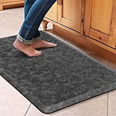 [Comfortable and Thick] ❤The WiseLife cushioned kitchen floor mat is made from ultra thick gel foam and ergonomically engineered to provide more comfort. This grey kitchen runner rugs provides cushioned support against cold and hard floors to help im...