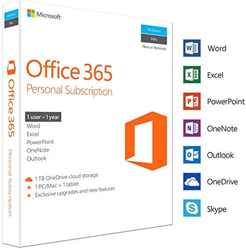 Microsoft Office 365 Personal - caja de embalaje (1 año) - 1