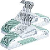 Amzeeniu 30 Perchas de Plástico,Mojado y seco,,Ahorro de Espacio,Trabajo Pesado...