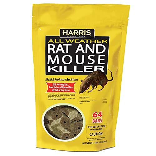HARRIS Rat & Mouse Killer, 64 Pack Bait Bars