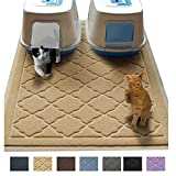 Jumbo Litter Mat 47' x 36' Cat Litter Mat - Traps Messes, Easy Clean, Durable, Litter Box Mat with Scatter Control - Soft on Kitty Paws