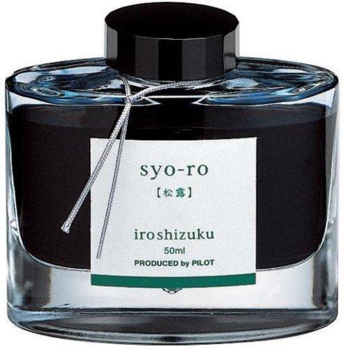 PILOT 69206 Iroshizuku Stylo plume en bouteille, Syo-Ro, rosée sur sapin de pin (turquoise foncé), flacon de 50 ml