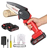 Mini Chainsaw Cordless, 4 Inch Portable Handheld Chainsaw, Anzid Electric Chainsaw Battery Powered,...