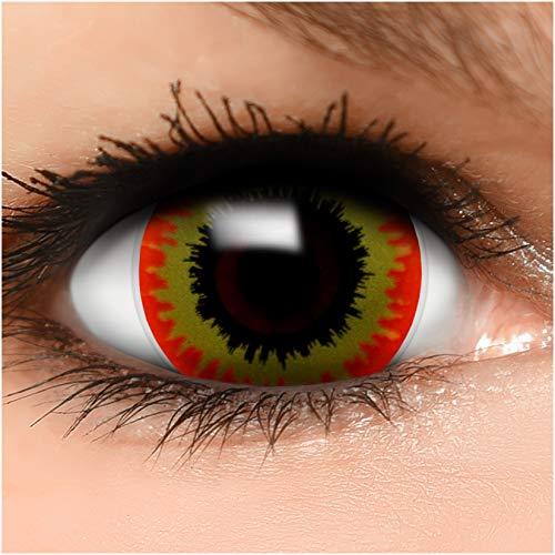 Farbige Mini Sclera Kontaktlinsen Lenses Ork inkl. Behälter - Top Linsenfinder Markenqualität, 1Paar (2 Stück)