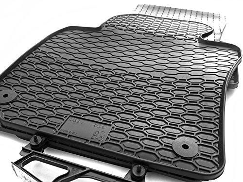 kh Teile Gummimatten passend für Tiguan Gummi Fußmatten 4-teilig schwarz