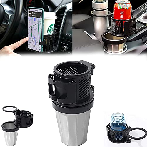 2-In-1 Car Cup Holder Expander Adapter, Multifunctional Car Drink Holder, With Phone Holder, Car Drink Holder Expander, All Purpose Car Cup Holder And Organizer, Hold Most Coffee Drinks Bottles