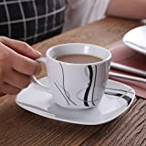 VEWEET Tafelservice 'Fiona' aus Porzellan 60 teilig | Kombiservice beinhatlet Kaffeetassen 175 ml, Untertasse, Dessertteller, Speiseteller und Suppenteller| Komplettservice für 12 Personen - 6