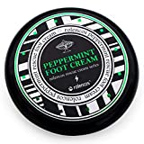 Rolencos Peppermint Cooling Moisturizing Foot Cream 4.20oz, Callus Remover, Thick, Cracked, Rough, Dead and Dry, Hard Feet, Heels, Soles, Professional Crack Foot Care Rescue Cream