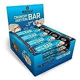 Bodylab24 Crunchy Protein Bar 12x64g / Knuspriger Protein-Riegel mit 20g Eiweiß pro Riegel / High Protein Low Sugar / Eiweißriegel mit wenig Zucker / Cherry Joghurt
