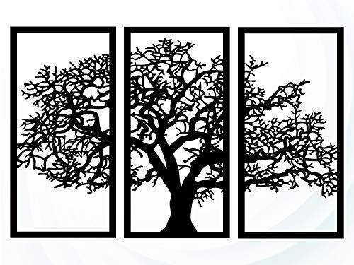 Quadro Árvore Da Vida 3 Peças King mdf