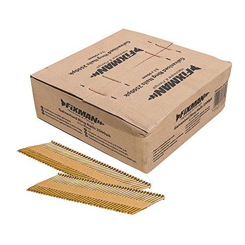 Fixman 413678 2 500 clous annelés galvanisés 3,1 x 90 mm