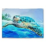 Sea Turtle Throw Blanket Warm Ultra-Soft Micro Fleece Blanket for Bed Couch Living Room Decoration