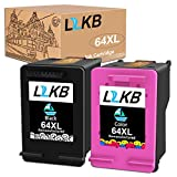 L2KB Remanufactured Ink Cartridge Replacement for HP 64XL 64 XL for Envy Photo 7155 7855 6220 6255 7120 7158 7130 7132 7164 7820 7830 7858 7864 Printer,1 Black+1 Tri-Color Combo Pack