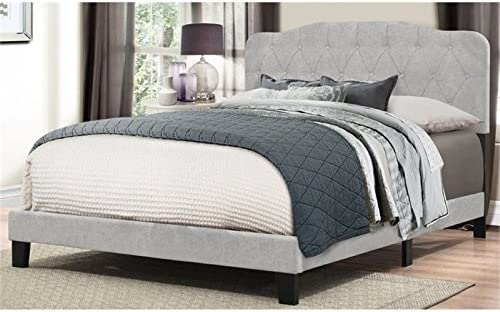 Bowery Hill Upholstered King Panel Bed In Glacier Gray Furniture Decor