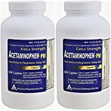 Acetaminophen PM 500 Caplets Generic for Tylenol PM Extra Strength Pain Reliever, Fever Reducer, Antihistamine & Nighttime Sleep Aid Acetaminophen 500 mg & Diphenhydramine 25 mg Pack of 2