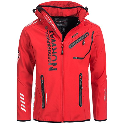 92H4 Amazon Geographical Norway Rainman Herren Softshell Jacke Rot XL