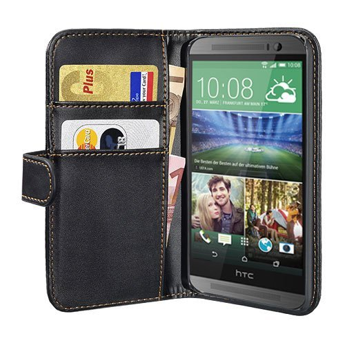 PEDEA Bookstyle Hülle für HTC Desire 816 Tasche, schwarz