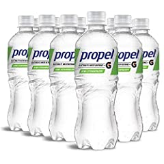 Hydrate your workout with the refreshing taste of Propel Water Kiwi Strawberry Flavored Water with Electrolytes, Vitamins and No Sugar. A flavored water backed by the Gatorade Sports Science Institute, Propel Water has electrolytes, antioxidants and ...