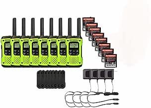 Motorola FRS/GMRS T600 Two-Way Radios / Walkie Talkies - Rechargeable & Fully Waterproof 8 PACK