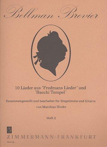 10 liedjes uit Fredmans liedje: en Bacchi Tempel Band 2: